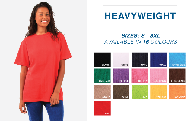180g Carded Cotton Tees- Adult
