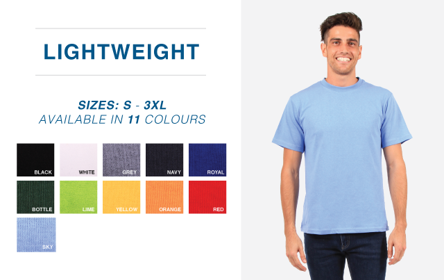 145g Carded Cotton Tees - Adult